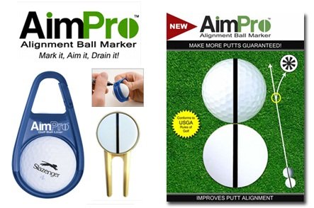 One AimPro Alignment Ball Marker
