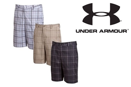 3 Under Armour Forged Plaid Shorts