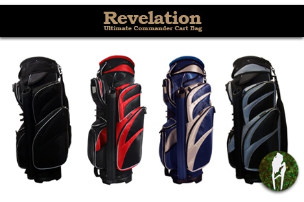 One Ultimate Golf Commander Cart Bag by Revelation PLUS a State of Michigan Divot Tool