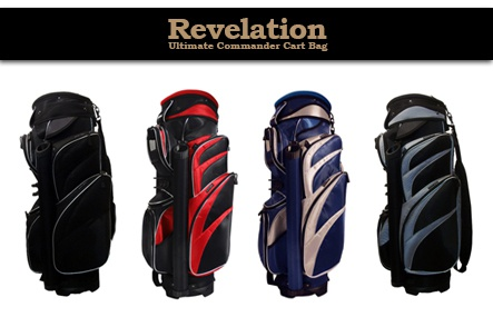 One Ultimate Golf Commander Cart Bag by Revelation PLUS One Pride Sports 56-Inch Single-Canopy Umbrella