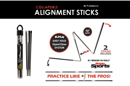 One Set of Pride Sports Collapsible Alignment Sticks