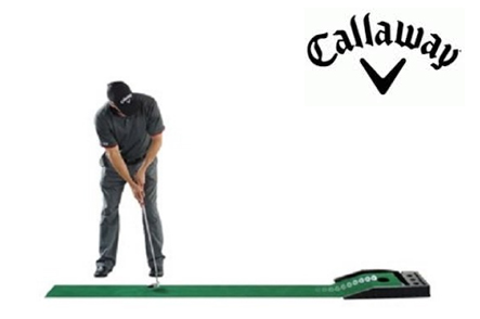 One Callaway Golf Putting Mat with Electric Ball Return