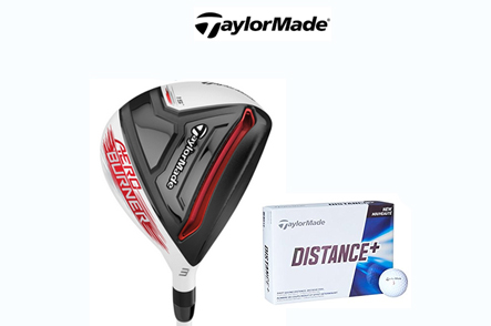 One TaylorMade AeroBurner #3 HL Fairway Wood PLUS One Dozen TaylorMade Distance+ Golf Balls